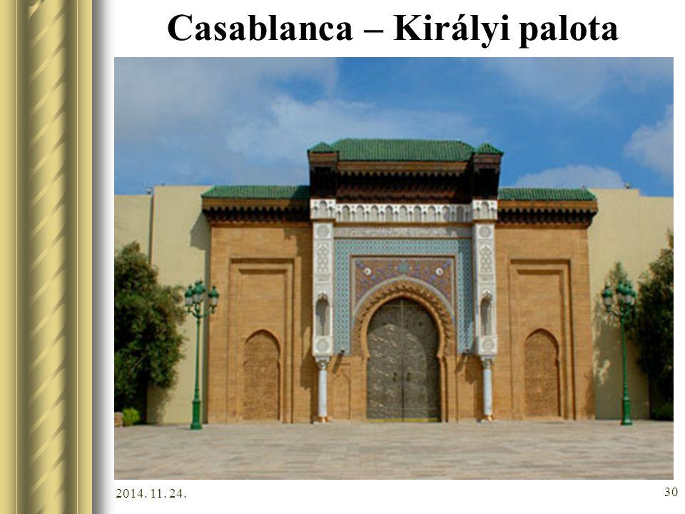 2014. 11. 24. 29 Casablanca – II. Hasszán mecset