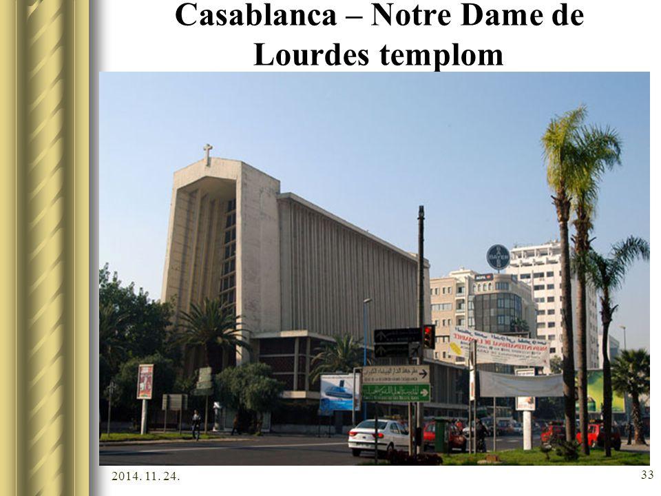 2014. 11. 24. 32 Casablanca – Sacre Coeur katedrális