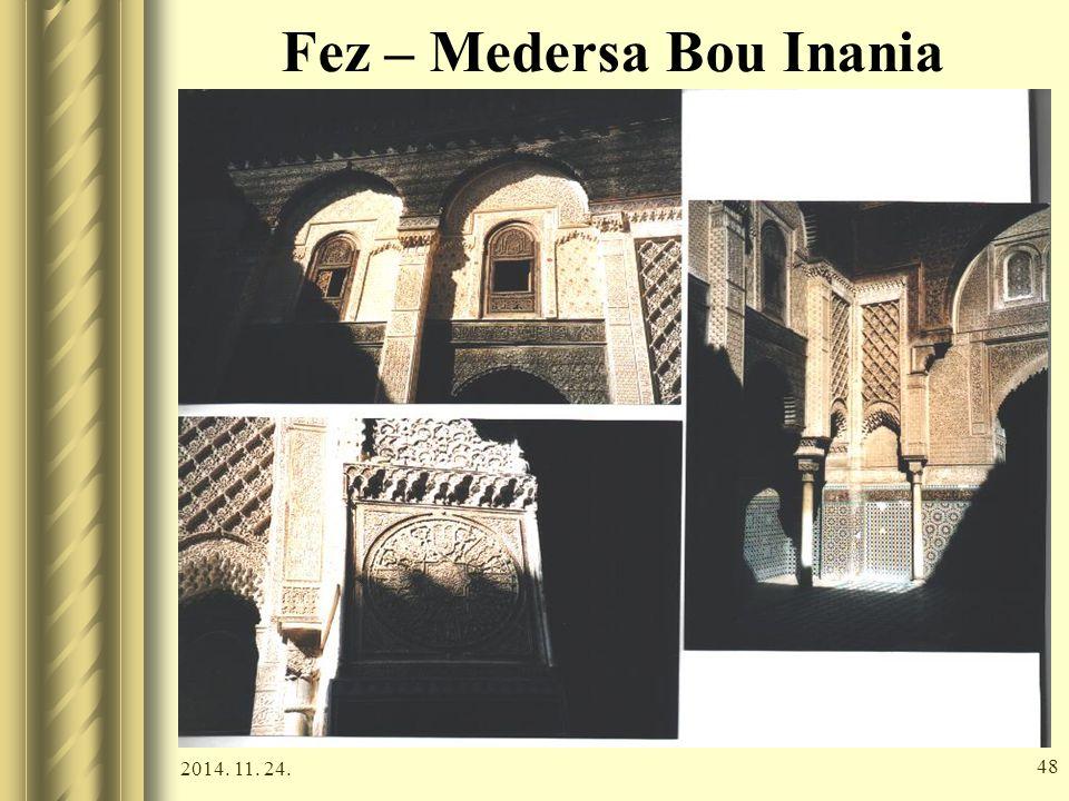 2014. 11. 24. 47 Fez – Attarine medresze