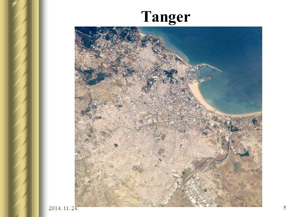 2014. 11. 24. 4 Marokkó idegenforgalma, látnivalók Mediterránium: nagyon jó strandok, sziklák, vízisport-lehetőségek. Tanger Gibraltári-szorossal szem
