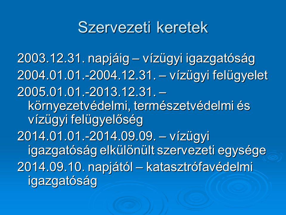 Vízvédelemmel kapcsolatos rendelkezések V.2014.09.10.