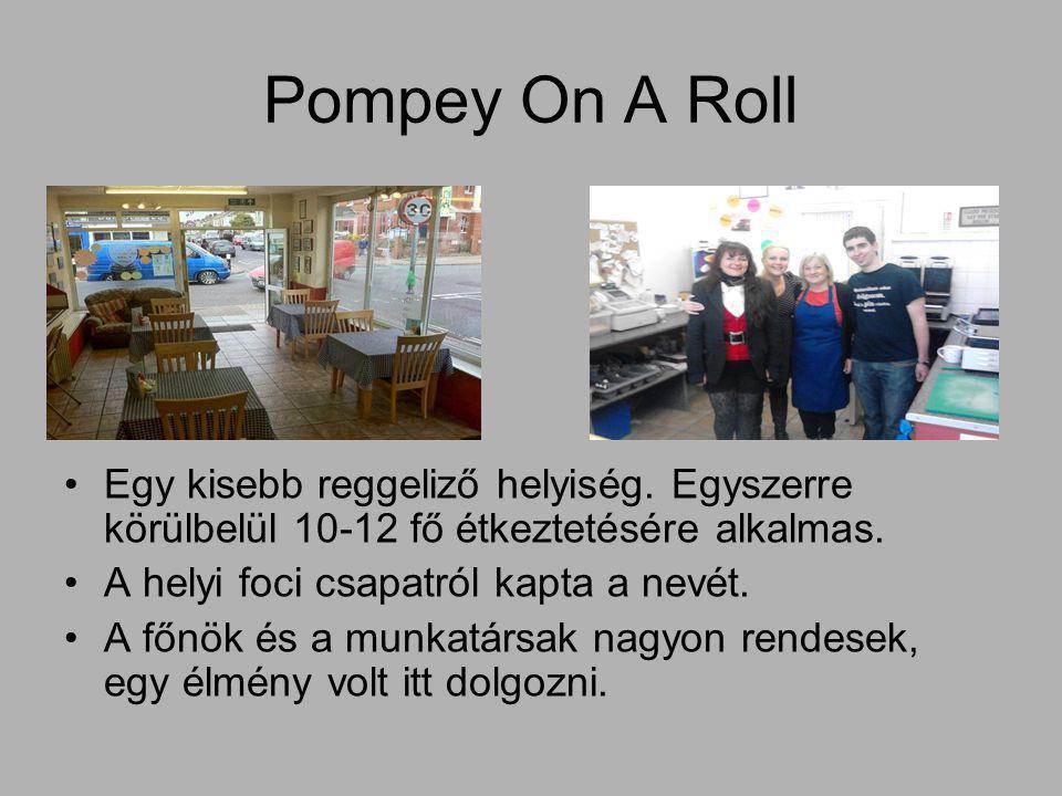 Pompey On A Roll Egy kisebb reggeliző helyiség.
