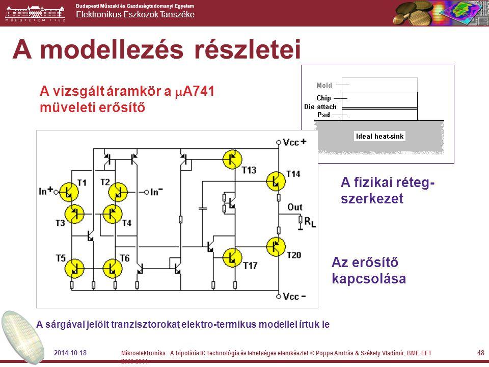 Budapesti Műszaki és Gazdaságtudomanyi Egyetem Elektronikus Eszközök Tanszéke A modellezés részletei Az erősítő kapcsolása A fizikai réteg- szerkezet
