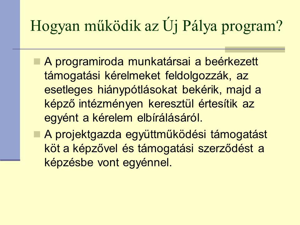 Hogyan működik az Új Pálya program.