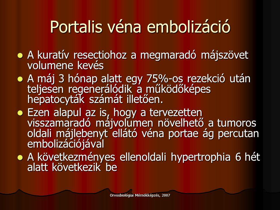 Orvosbiológiai Mérnökképzés, 2007 Májátültetés Primer májtumorok közül HCC igen, CCC nem Primer májtumorok közül HCC igen, CCC nem Az ú.n.