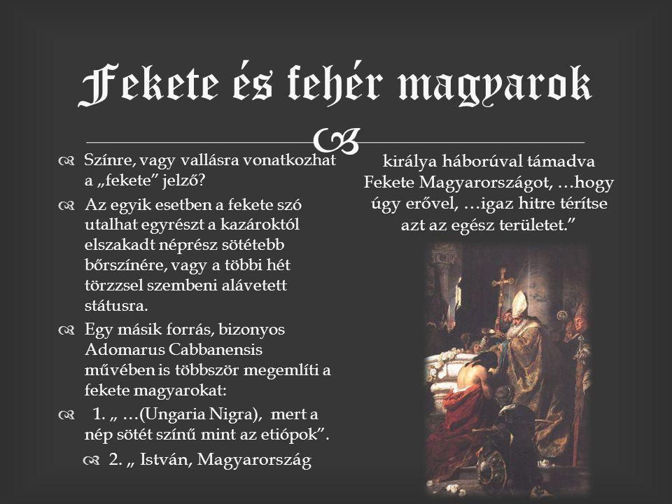 7fa823747c A magyarok: Fekete és fehér magyarok.   Színre, vagy vallásra ...