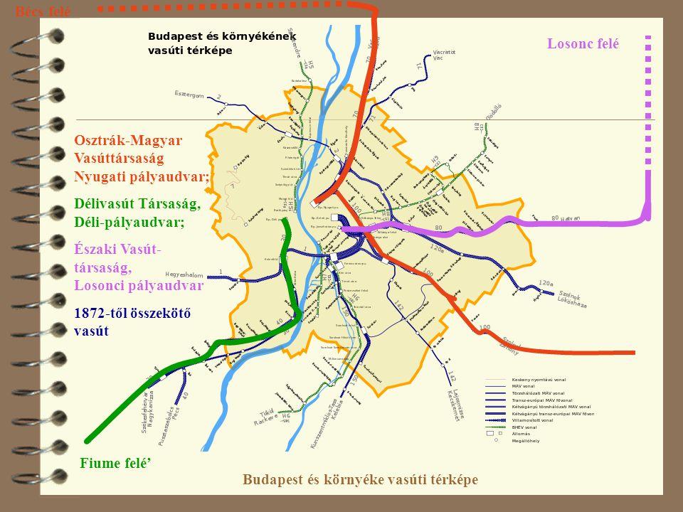 budapest térkép nyugati A VASÚTRÓL ÉS A PÁLYAUDVAROK ÚJ SZEREPÉRŐL Fleischer Tamás MTA  budapest térkép nyugati