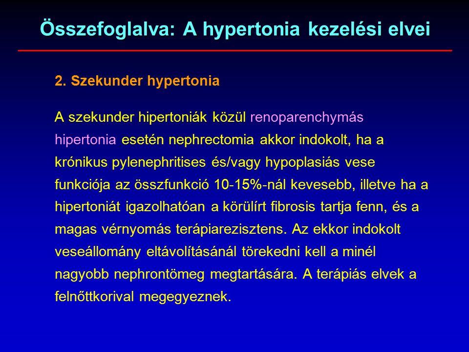 terápiás hipertónia esetén
