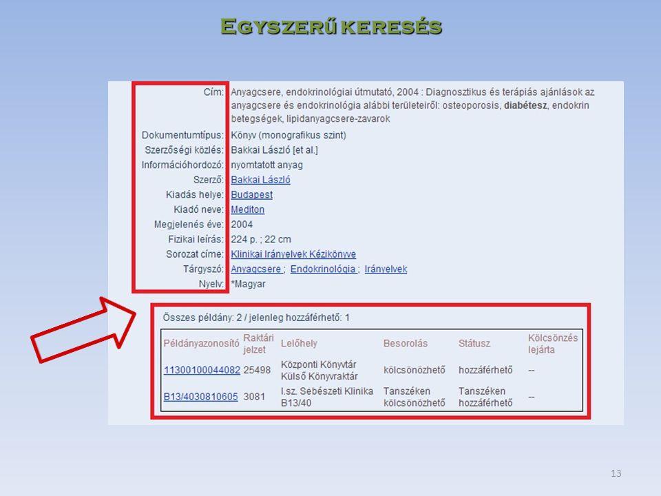Online katalógusok Semmelweis Egyetem Központi Könyvtár 2014 Ruttkay ... 70aa29dab3
