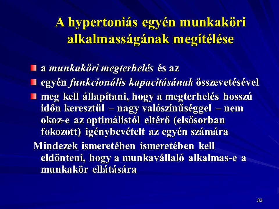 mi az 1 fokos hipertónia alkalmassági kategóriája)