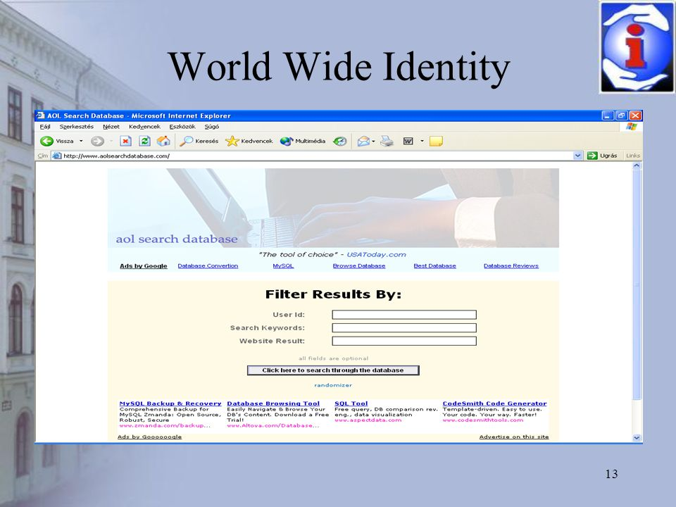 13 World Wide Identity