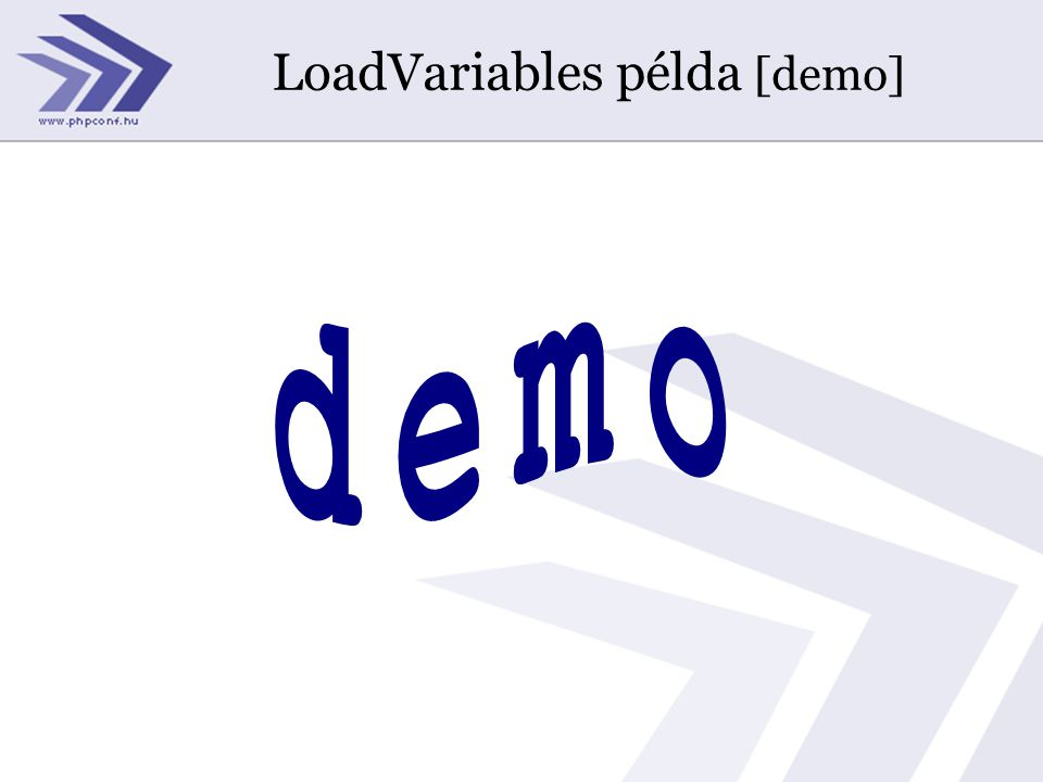 LoadVariables példa [demo]