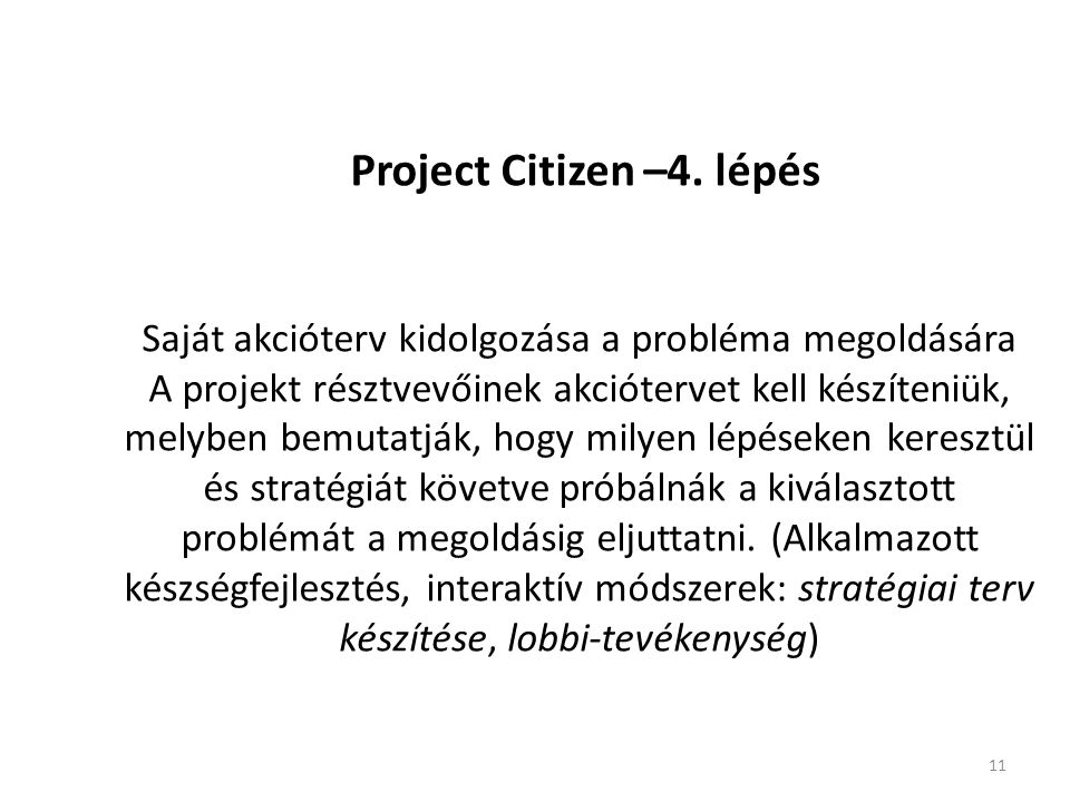 11 Project Citizen –4.