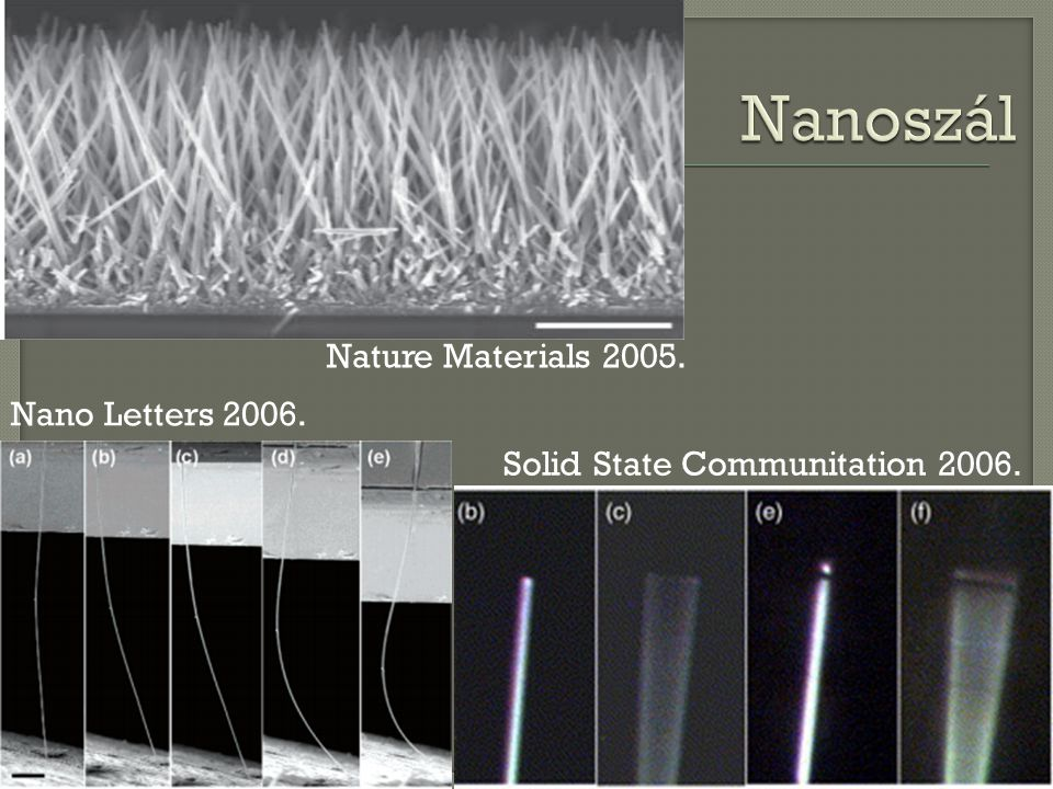 Nature Materials Nano Letters Solid State Communitation 2006.