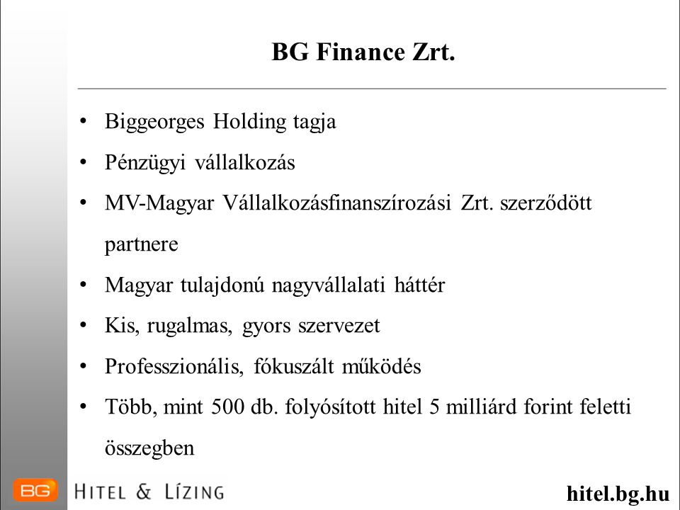 BG Finance Zrt.