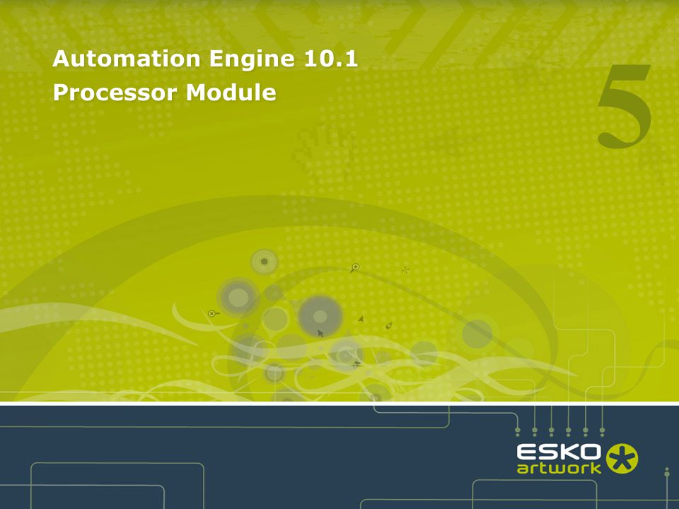Automation Engine 10.1 Processor Module 5