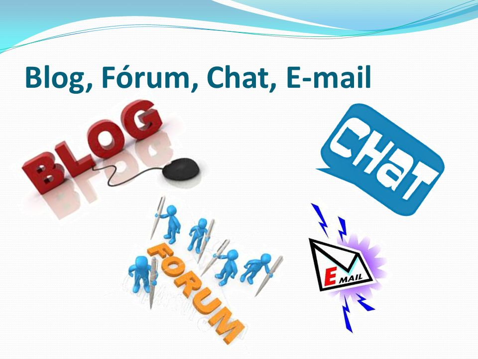 Blog, Fórum, Chat,