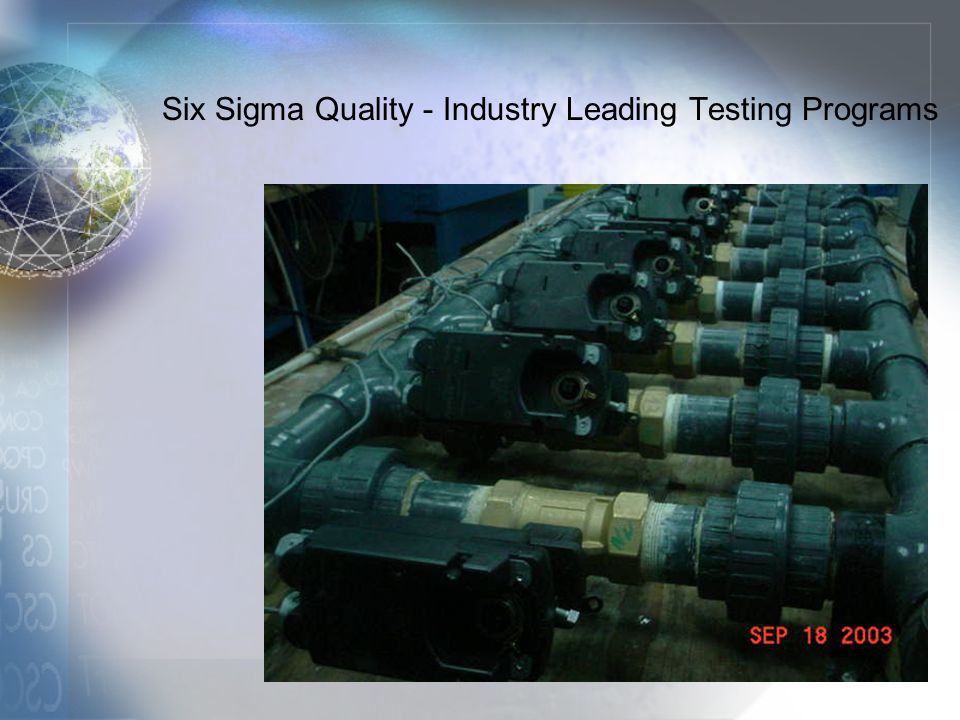 Six Sigma Quality - Industry Leading Testing Programs