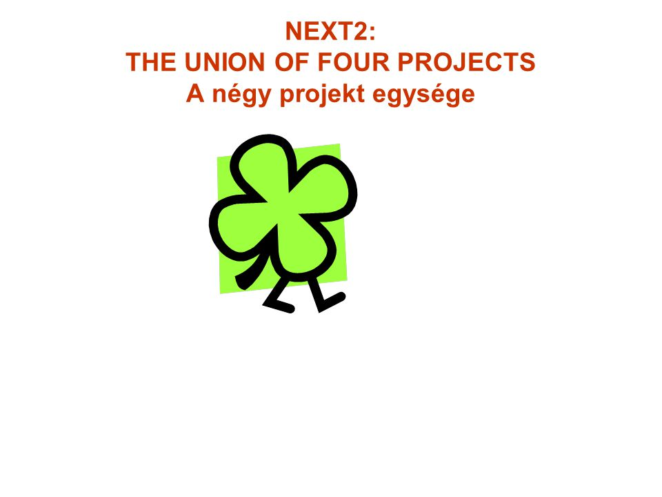 NEXT2: THE UNION OF FOUR PROJECTS A négy projekt egysége