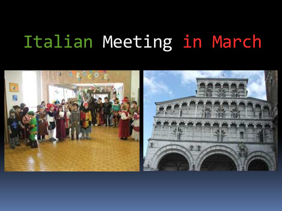 Italian Meeting in March