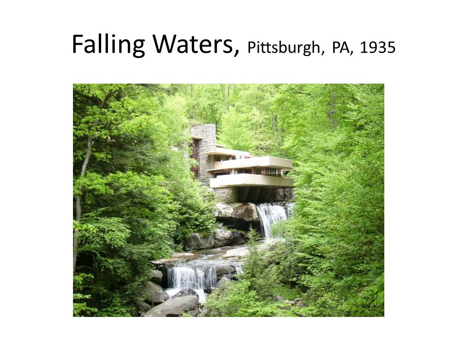 Falling Waters, Pittsburgh, PA, 1935