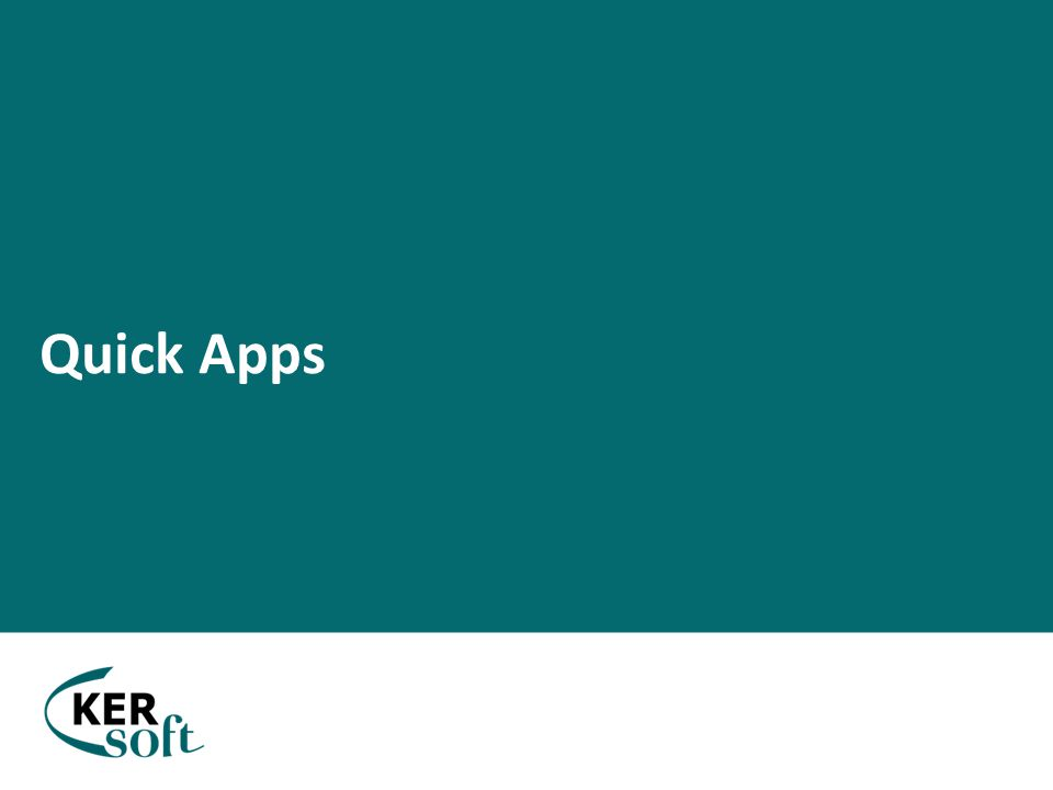 Quick Apps