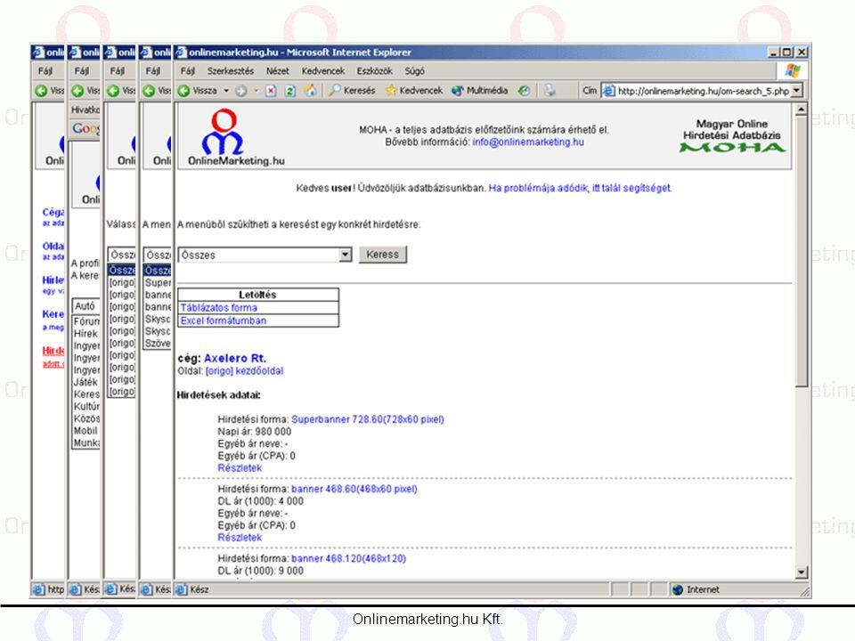 2387a9c857 Onlinemarketing.hu Kft. A Magyar Online Hirdetési Adatbázis rövid ...