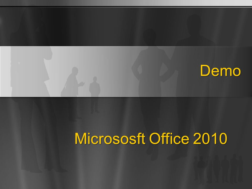 Demo Micrososft Office 2010
