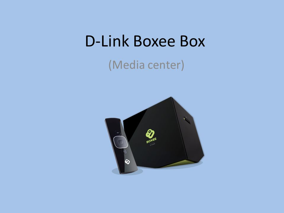 D-Link Boxee Box (Media center)