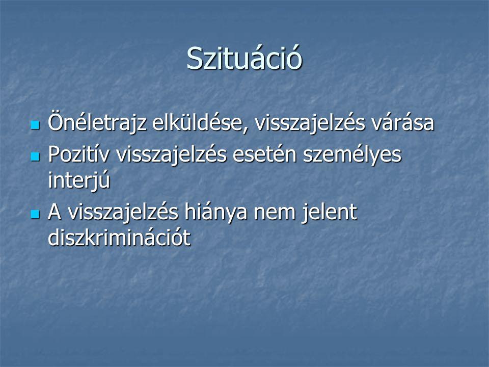 önéletrajz visszajelzés A kisgyermekes nők munkaerő piaci helyzete Készítette: Ferenczi  önéletrajz visszajelzés