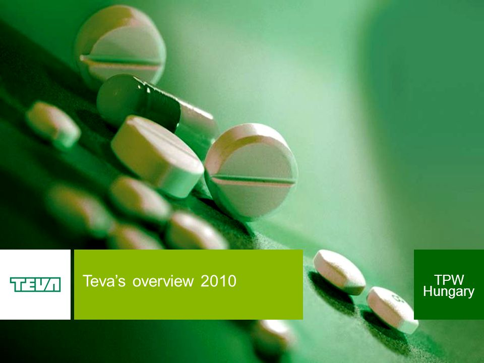 Teva's overview 2010 TPW Hungary