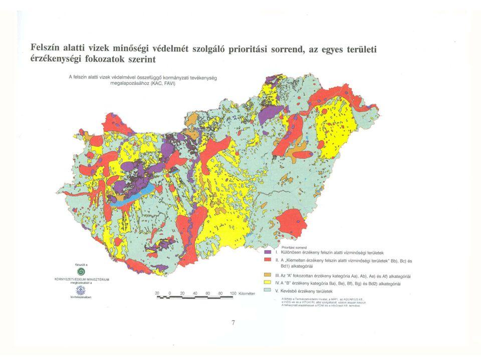 Vízadó réteg térkép